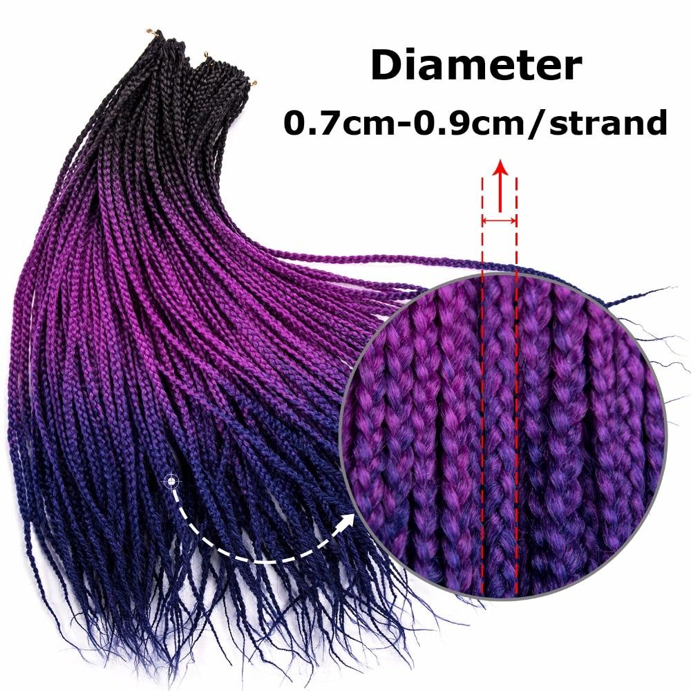 Δαντέλες DinDong Ombre Πριτσίνια Πριτσίνια - Συνθετικά μαλλιά - Φωτογραφία 3