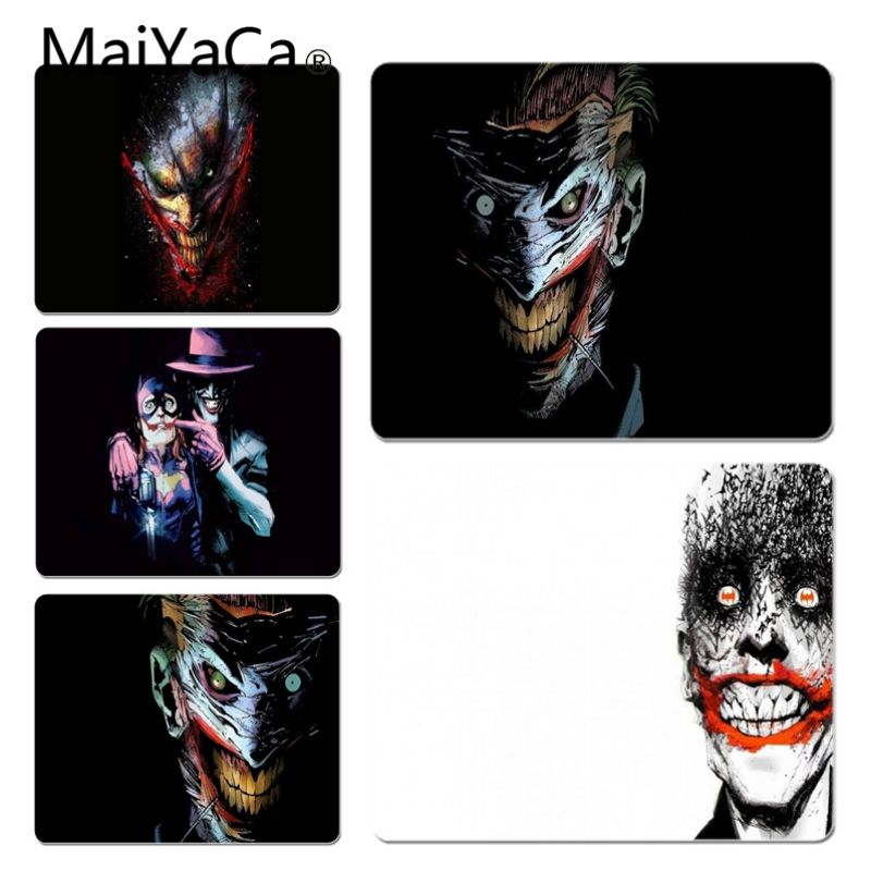 MaiYaCa Vintage Cool DC Joker Decorative Mouse Pads Size for 18x22cm 20x25cm 25x29cm Game Mouse Pad