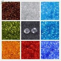 Şeffaf 2/3/4mm 6/0 8/0 12/0 Cam Kristal Takı Yapımı DIY Gevşek Küçük Mikro Küçük Tohum Craft Bileklik Boncuk Trans Yuvarlak