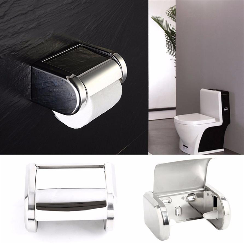 New Creative Stainless Steel Bathroom Toilet Wall Mounted ... on Wall Mounted Tissue Box Holder id=62639