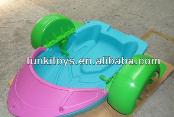 Popular Water park kids hand pedal boat/plastic kids hand pedal boat цена и фото