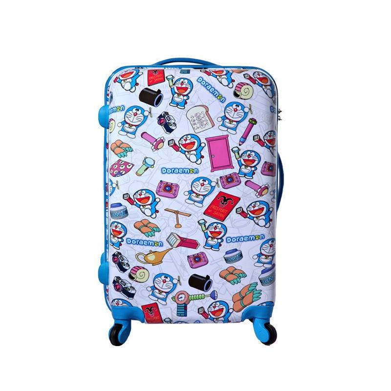 Новий Doraemon подорожі чемодан мультфільму кіт візки багажу мішок універсальний коліс багажу прокатки багажу