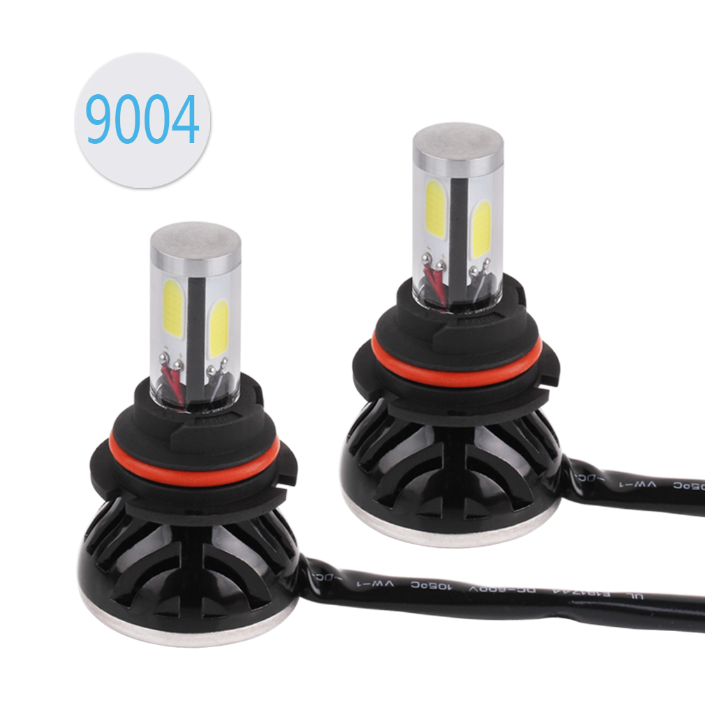 2PCS 9004 HB1 80W 8000LM LED Headlight Conversion Kit COB DRL Bulbs Car Fog Lights 6000K White Replacement Hid Xenon Lamp icoco 12v led car auto drl fog lights headlight lamp bulb 2pcs hid white high power 9004 hb1 2835 smd