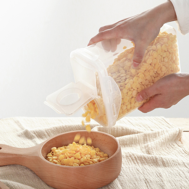 Caja larga caja de almacenamiento de cocina comida creativa ...