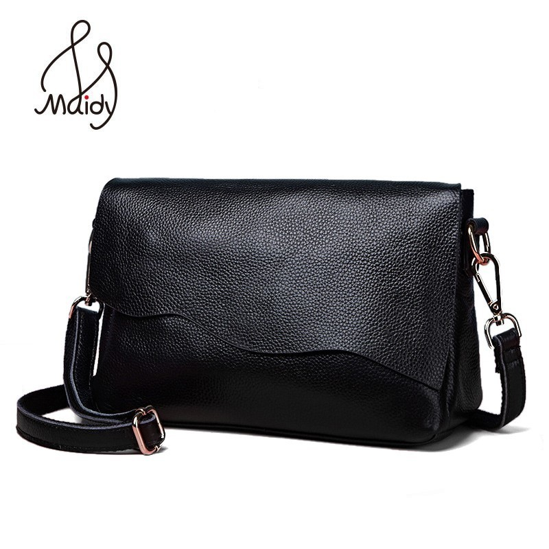 Genuine Cow Leather Crossbody Ladies Hand Bags For Women Soft Real First Layer Of Cowhide Handbag Bag Messenger Shoulder Maidy стоимость