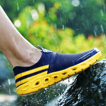 Summer upstream men's breathable mesh shoes quick-drying non-slip mountaineering amphibious wading shoes стоимость