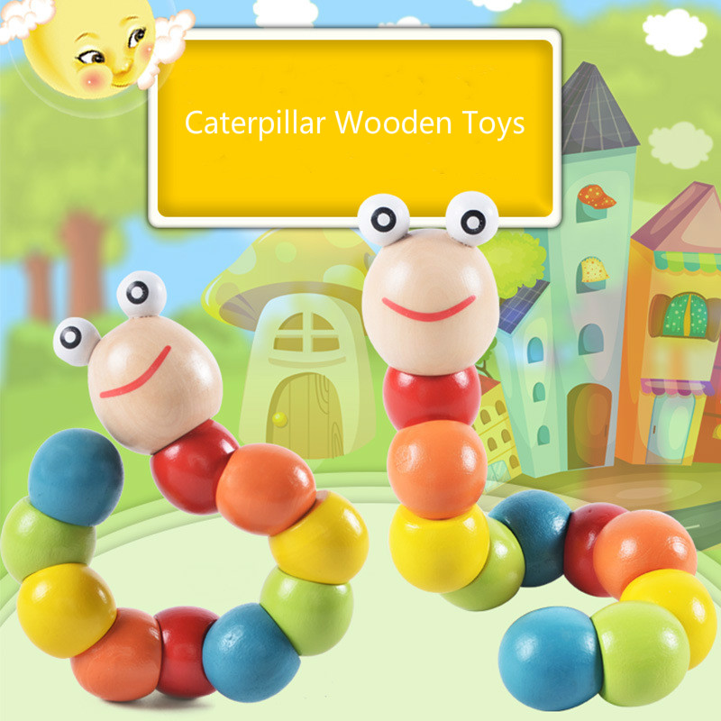Caterpillars Wooden Toy Educational Christmas Gift For Children Boys Girls  Girls Toys For 5 Years  Craft For Kids