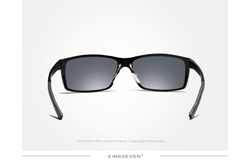 KINGSEVEN New Design Aluminum Magnesium Sunglasses Men Polarized Square Driving Sun Glasses Male Eyewear Accessories For Men