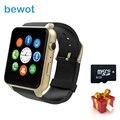 Bewot smart watch gt88 mt2502c con tarjeta sim smartwatch reloj para ios android pulsómetro pk gv18 m88 gw01
