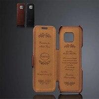 Fashion Brand PU Leather Retro Crazy Horse Case Coque For Samsung Galaxy S6 Edge G9250 Cover