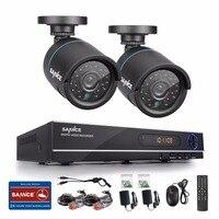 Sannce新1080N hd高解像度8ch cctvビデオセキュリティシステム2ピースマイクロカメラsurvellianceキットir屋外耐