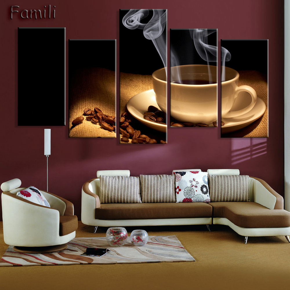 Aliexpress Com Buy 4 Panels Modern Printed Coffee Canvas: Aliexpress.com : Buy Oil Paiting Printed Painting Picture