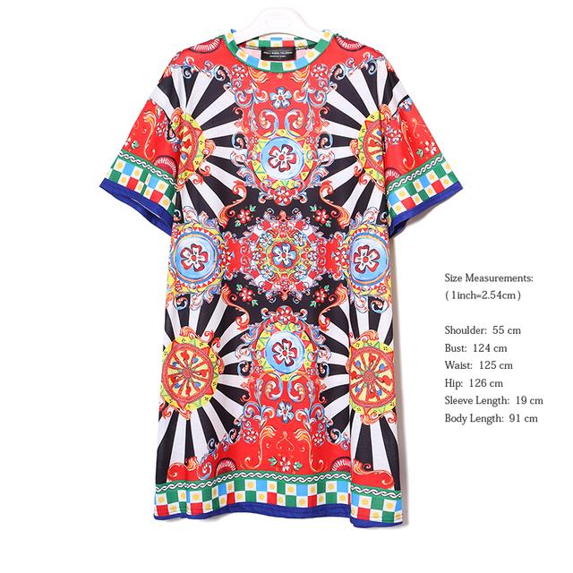 2018 Summer Women Black Floral Printed Beach Dress Short Sleeve Cute Wear Straight Sundress Midi Sun Dresses vestido Style 2162