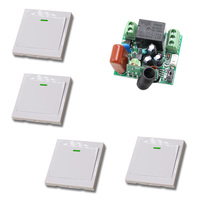 AC 220V 10A Wireless Remote Control Switch 1CH Relay Receiver Module Wall Transmitter Radio Light Switch