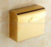 Bathroom Brass Toilet Paper Roll Holder Toilet Tissue box Brass Gold Color Paper Towel Rack zba299 стоимость
