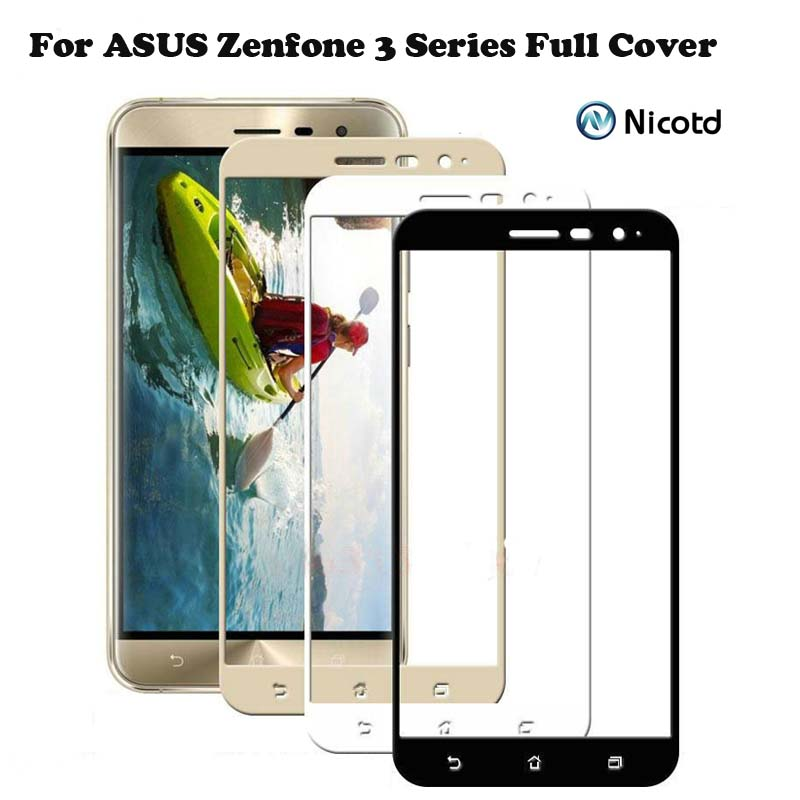 Nicotd Full Cover Tempered <font><b>Glass</b></font> for <font><b>Asus</b></font> ze553kl Zenfone 3 Max ZC520TL ZE552KL ZE520KL Screen Protector for <font><b>ZC553KL</b></font> ZB501KL image