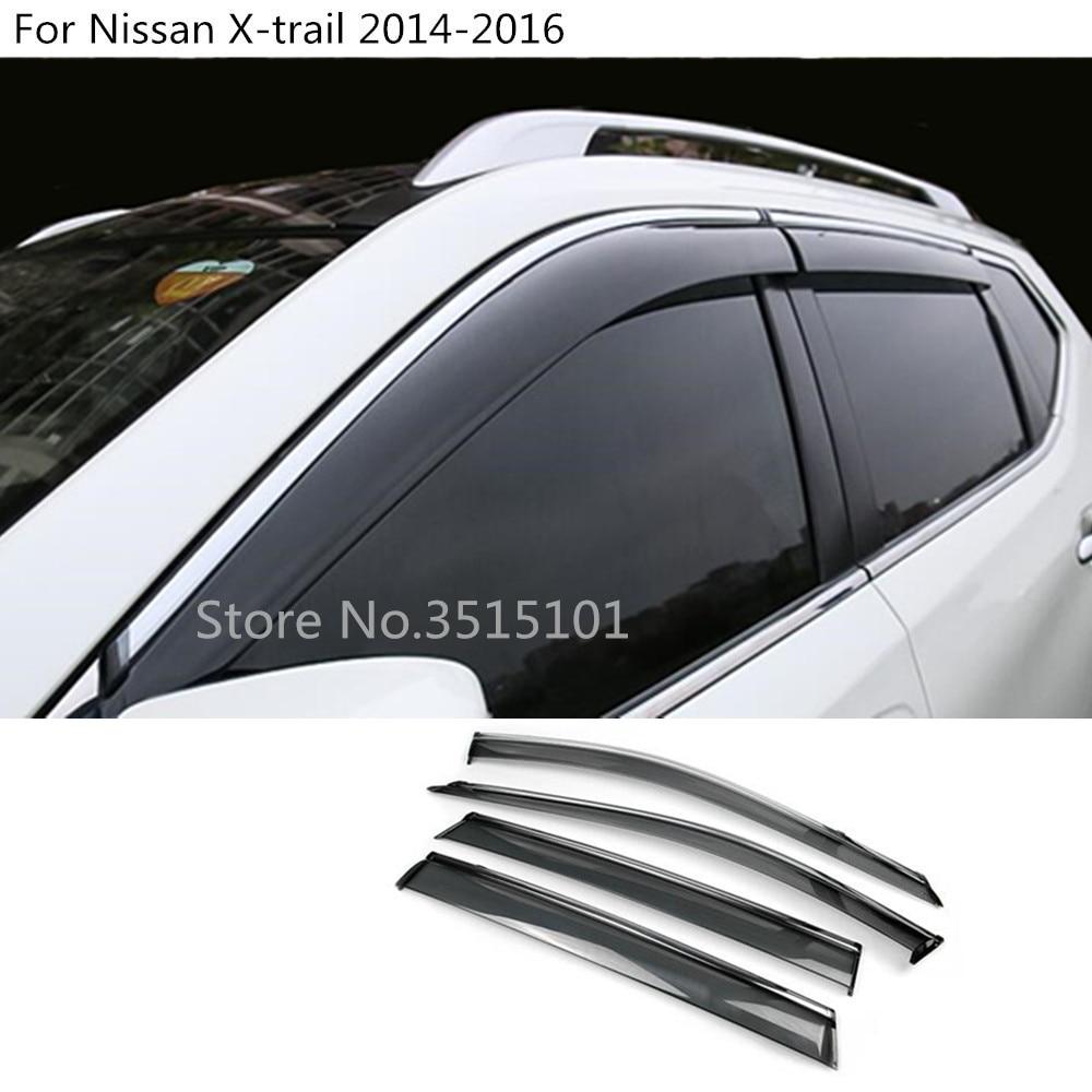 Automobiles & Motorcycles Sporting Car Styling Stick Plastic Window Glass Wind Visor Rain/sun Guard Vent 4pcs For Nissan X-trail Xtrail T32/rogue 2017 2018 2019