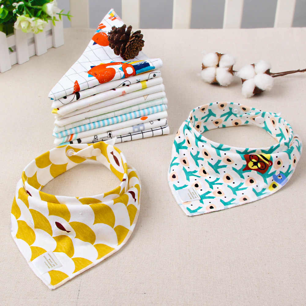 Baby Bibs Boy Girl Bandana Water Absorb Bib Burp Cloth Triangle Cotton Baby Scarf Burp Baby Christmas Accessories