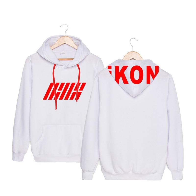 Women's Clothing K-pop Ikon Album My Type Kim Han Bin Bobby Jin Zhiyuan B.i The Same Korean Version Of Men Women With Hats Sweatshirts Kpop