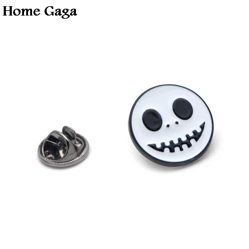 20pcs/lot D0409 Homegaga Skulls on Christmas Eve Enamel Brooch Pins for Sweater Pin Badges Gift Jewelry for Men Women Girl Kids