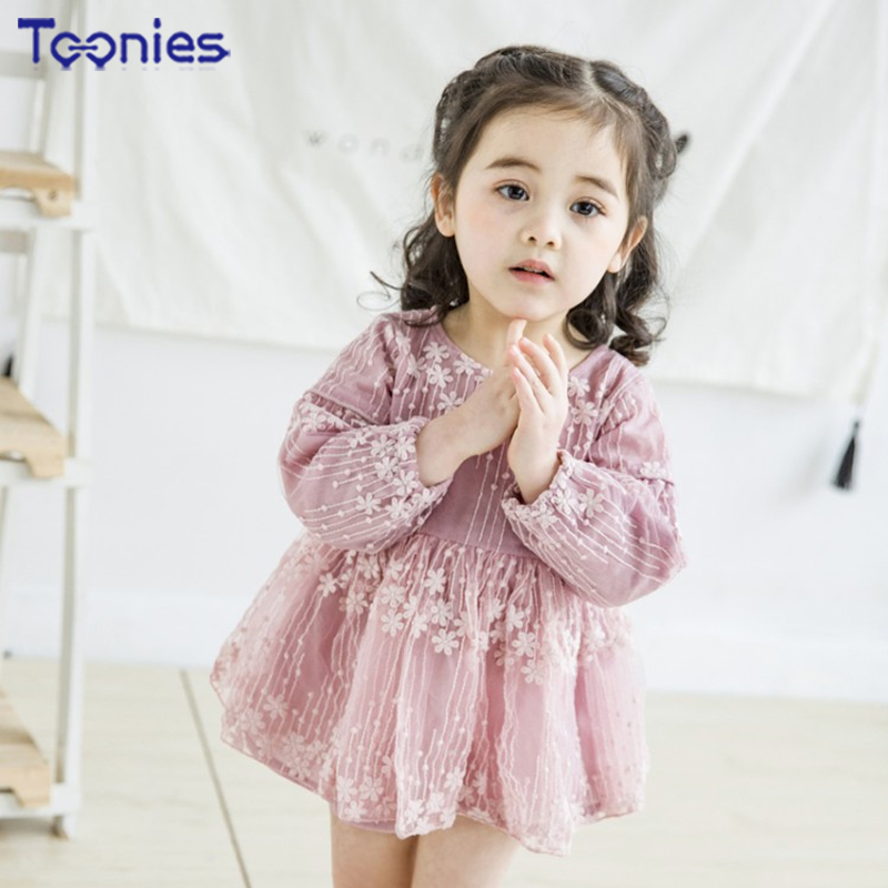 Elegant Beauty Meteor Shower Yarn Dress Princess Dress Baby Girls Clothes Dresses Sweet Streetwear High Quality Summer Spring