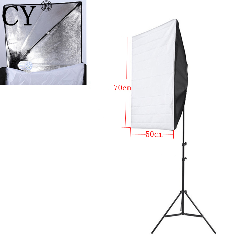 CY New E27 40W <font><b>LED</b></font> Light 110V Portable 50cm x 70cm <font><b>Photo</b></font> <font><b>Studio</b></font> Softbox With <font><b>Studio</b></font> Photography 200cm Light Stand Kit