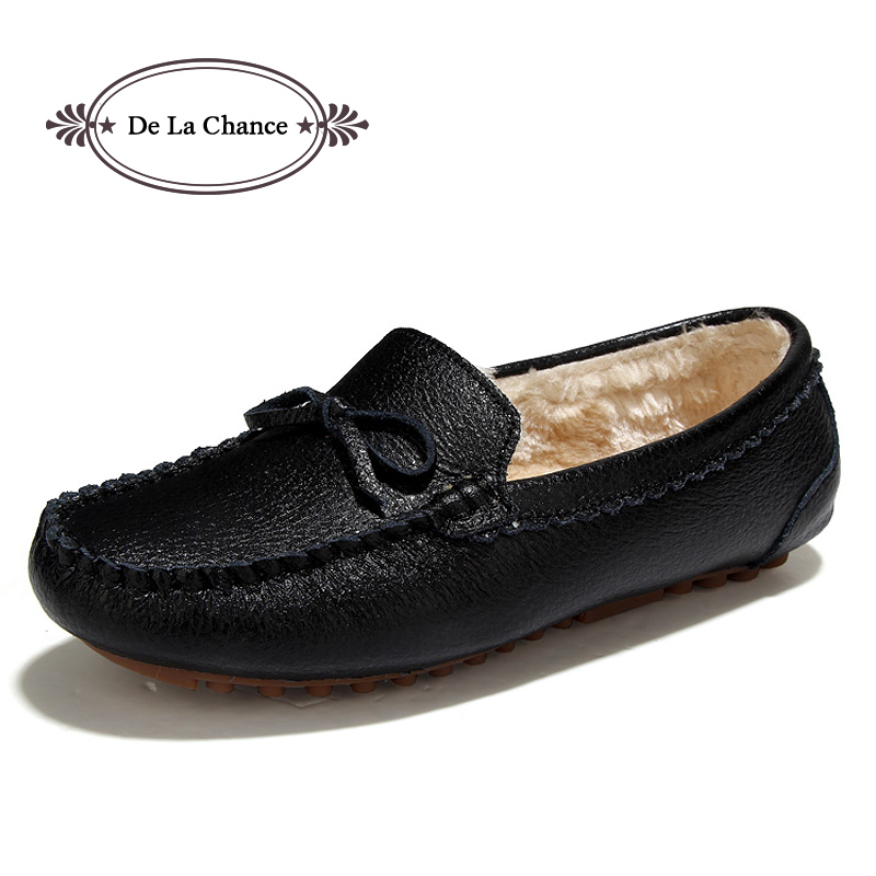 De La Chance Winter Women Loafers Shoes Inside Warm Soft Women Flats Winter Fur Lined Slip-on Ladies Moccasins Boat Shoes Woman jingkubu 2017 autumn winter women ballet flats simple sewing warm fur comfort cotton shoes woman loafers slip on size 35 40 w329