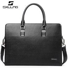 2017 Large Capacity Street Trend Genuine Leather Zipper Blue Color font b Men b font font