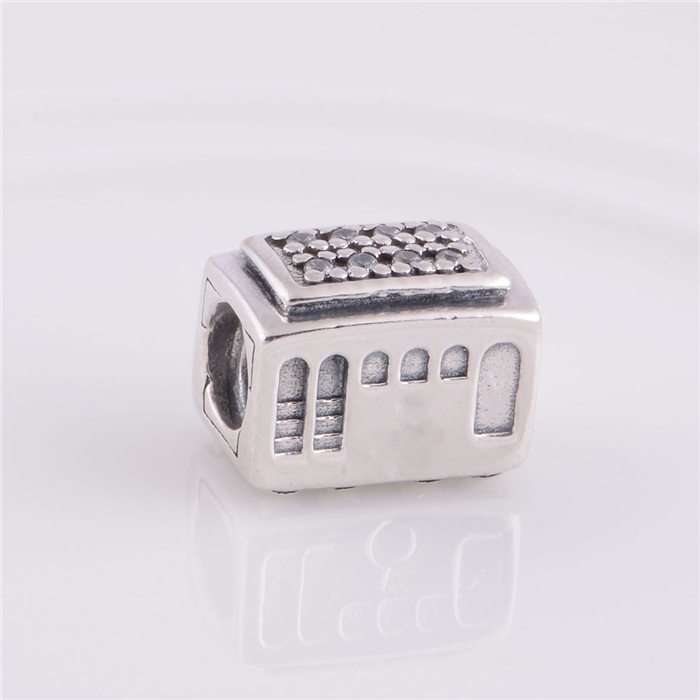 925 Sterling Silver Threaded Charms caravans Touring car Charm Bead Fit Original Pandora Charms Bracelet jewelry