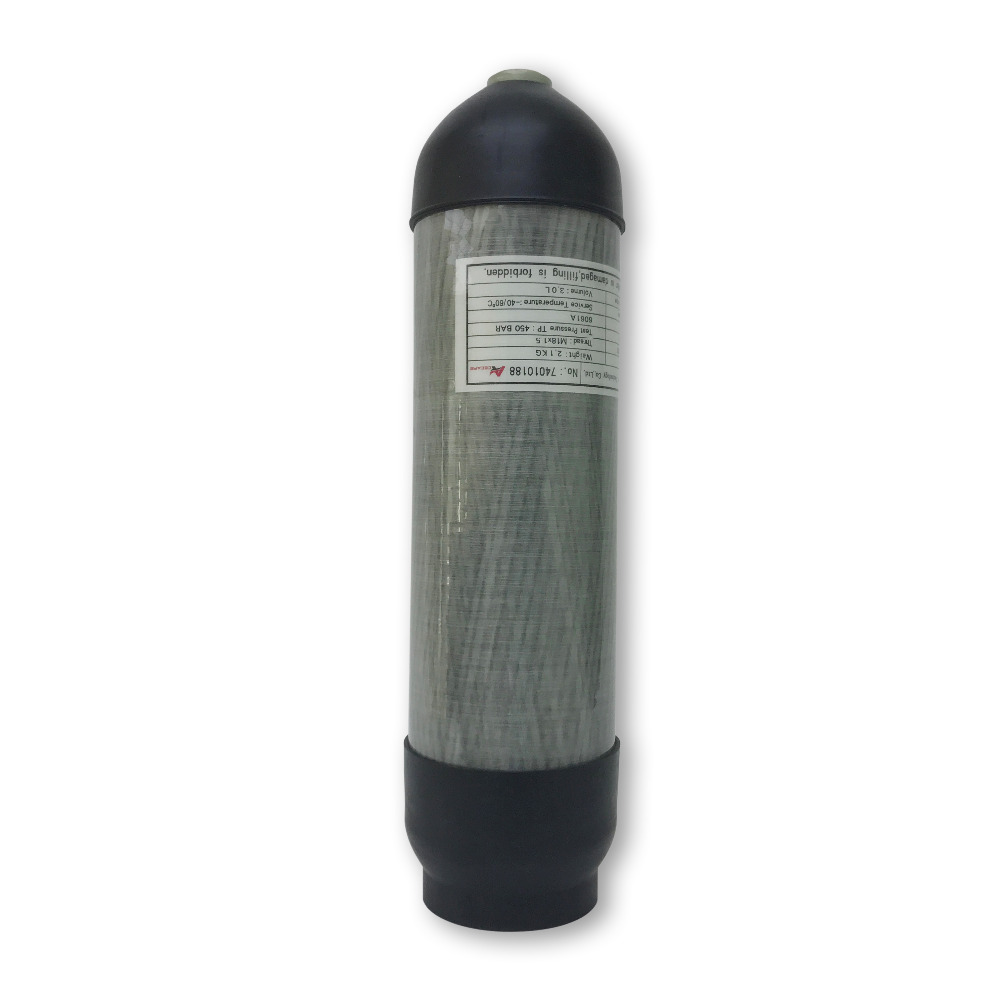 AC10391 Acecare Pcp Condor Carbon Fiber Air Tank 3L Air Rifle Scuba Cylinder Co2 4500 Psi Paintball Mini Bottle Dive