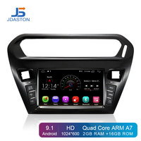JDASTON Android 9.1 Car DVD Player For Citroen Elysee Peugeot 301 2014 2016 Multimedia WIFI GPS Navigation 1Din Car Radio Stereo