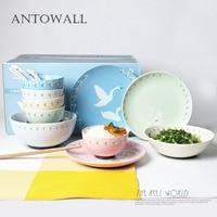 ANTOWALL Простой Личность керамический столовый сервиз 15 шт. блюдо тарелка чаша набор отель restaurantl Лебедь миски детские дома