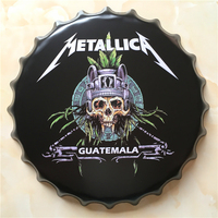 METALLICA Large Beer Cover Tin Sign Logo Plaque Vintage Metal Painting Wall Sticker Iron Sign Bar KTV Store Decorative 40X40 CM