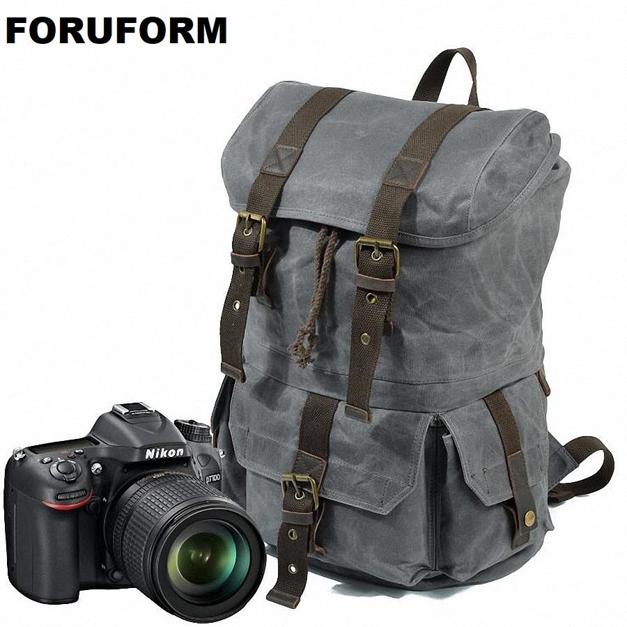 Vintage Camera Backpack DSLR Camera Bag Waterproof Soft Shoulders Bag Men Women Backpack For Canon/Nikon Camera LI-2060 sinpaid waterproof dslr slr camera backpack photography bag cases two layers design for travel and canon eos nikon sony olympus