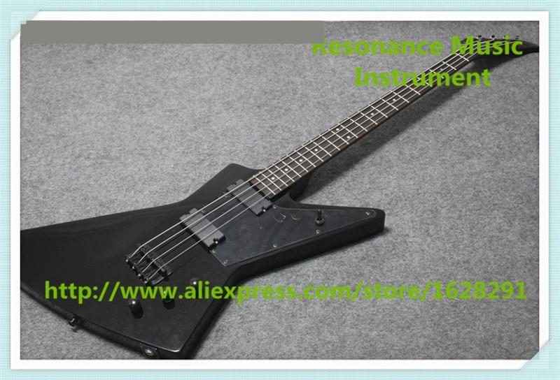 Новое поступление китайский 4 Строка исследовать электрический бас Гитары в глянцевый черный для продажи