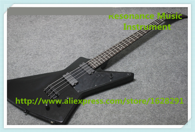 New Arrival Chinese 4 String Explore Electric Bass Guitars In Glossy Black For Sale цена 2017