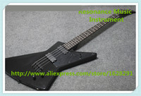 New Arrival Chinese 4 String Explore Electric Bass Guitars In Glossy Black For Sale