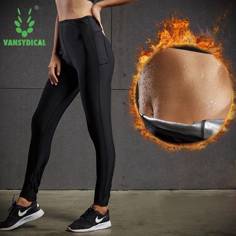 Hot Sweat Women Yoga Pants High Waist Slimming Running Fitness Leggings Promote Sweat Sports Slimming Trousers FBF716401
