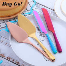 2PCS Stainless Steel Cake Shovel Cutter Set  Cheese Pizza Pie Pastry Spatulas with Server Golden Bread Knife Baking Cooking Tool цены
