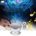 Colorido Cielo Estrellado Proyector de La Lámpara y Altavoces Aurora Master Noche luz Holiday Party Olas 12 unids RGB Led Océano Onda MP3 lámpara