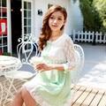 Летний стиль кружева твердые беременным платья одежда для беременных одежда для беременных Gravida носить 2015 новинка