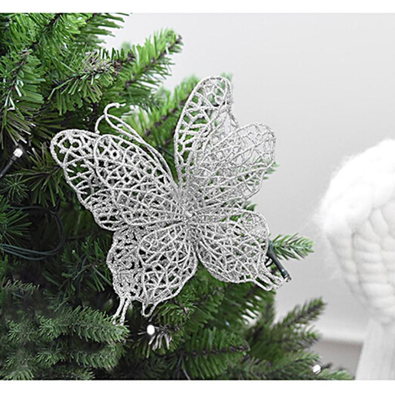 Christmas Tree Decorations Aliexpress: Aliexpress.com : Buy 5pcs Christmas Butterfly 7cm