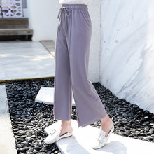 97f22c4566d8 2018 mujeres la pierna ancha pantalones flojos de moda encaje hasta arco  gasa pantalones señora moda