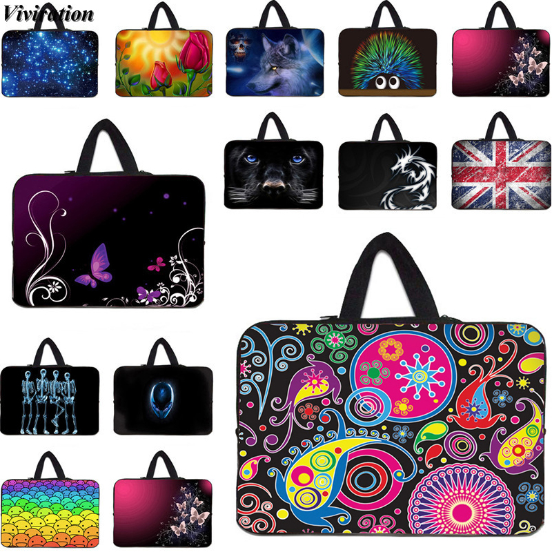 For Asus Dell Viviration Neoprene Laptop Bag 14 15 10 17 12 13 7 Inch Sleeve Notebook Case Casual Handbag Computer 17.3 Bag
