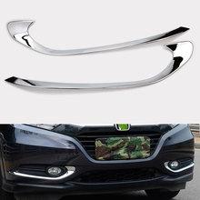 Fit For Honda HR-V HRV Chrome Front Fog Light Cover Trim Bumper Molding Accent недорого
