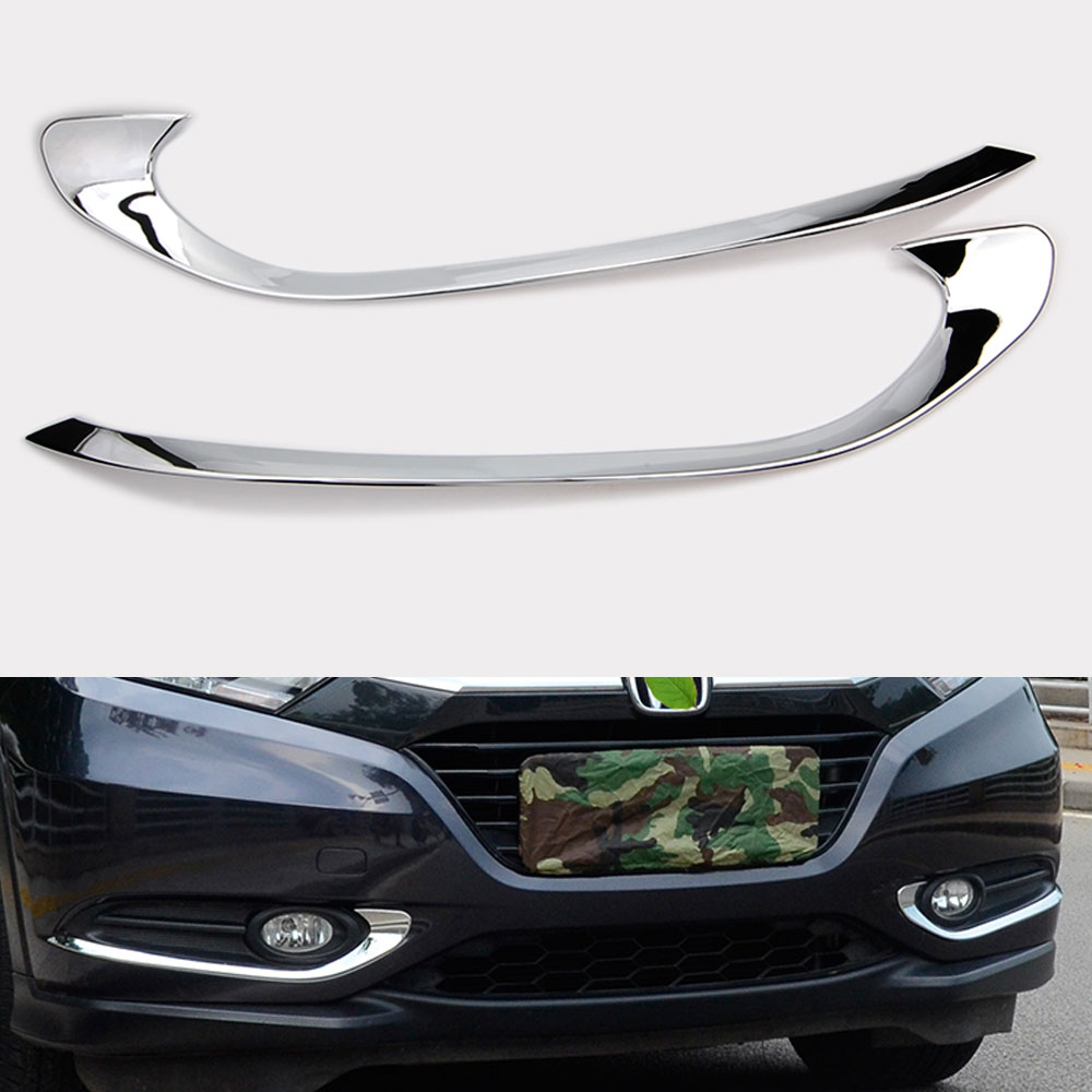 Fit For <font><b>Honda</b></font> HR-V <font><b>HRV</b></font> Chrome Front Fog Light Cover <font><b>Trim</b></font> Bumper Molding Accent image