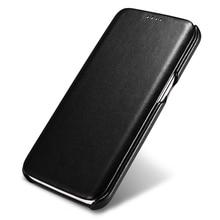 Carcasa Original ICARER de lujo de cuero genuino para Samsung Galaxy S7/ S7 Edge, funda con tapa ultrafina, accesorios para teléfonos móviles