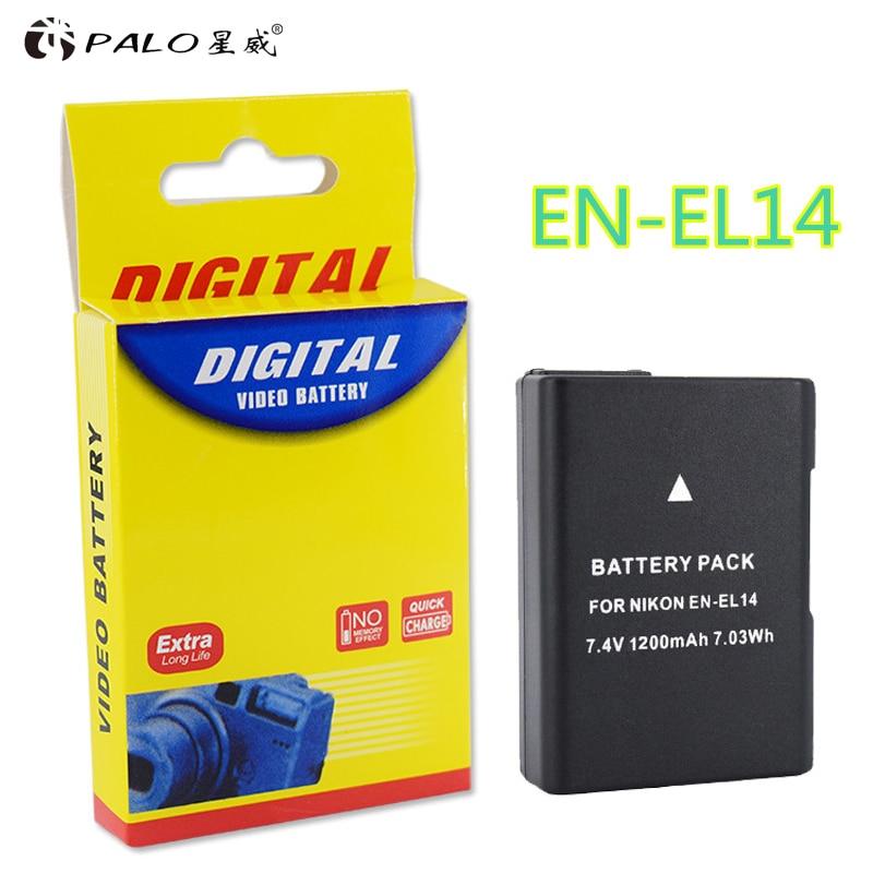 1 Stücke EN-EL14 EN EL14 ENEL14 Batterie für Nikon D90 D300 D5300 D5200 D5100 D3300 D3200 D3100 für COOLPIX P7100 P7200 P7700