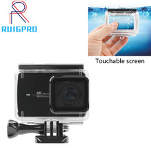 Diving Underwater 35m touchable Waterproof Protective Housing Case For Xiaomi Yi 2 4k Action Camera все цены