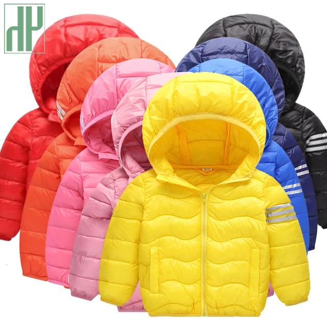 Big Promo HH Toddler Girls winter coat Cotton Down light children Jackets autumn Hooded snow wear parka Boy Outerwear kids winter jacket